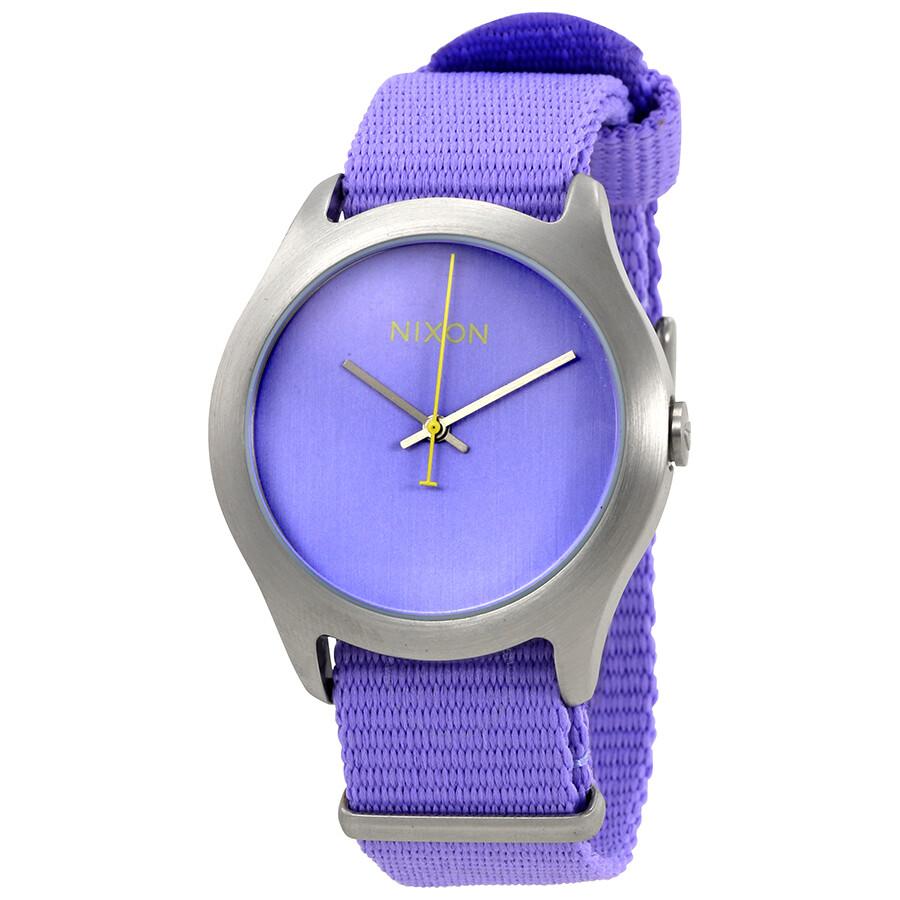 Watch Links Nixon Purple: Nixon Mod Purple Dial Ladies Casual Textile Watch A348