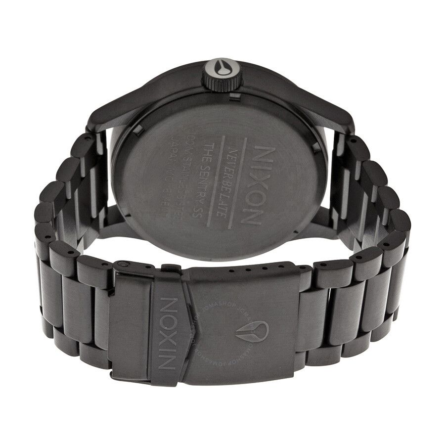 nixon sentry all black men s watch a356001 nixon watches nixon sentry all black men s watch a356001