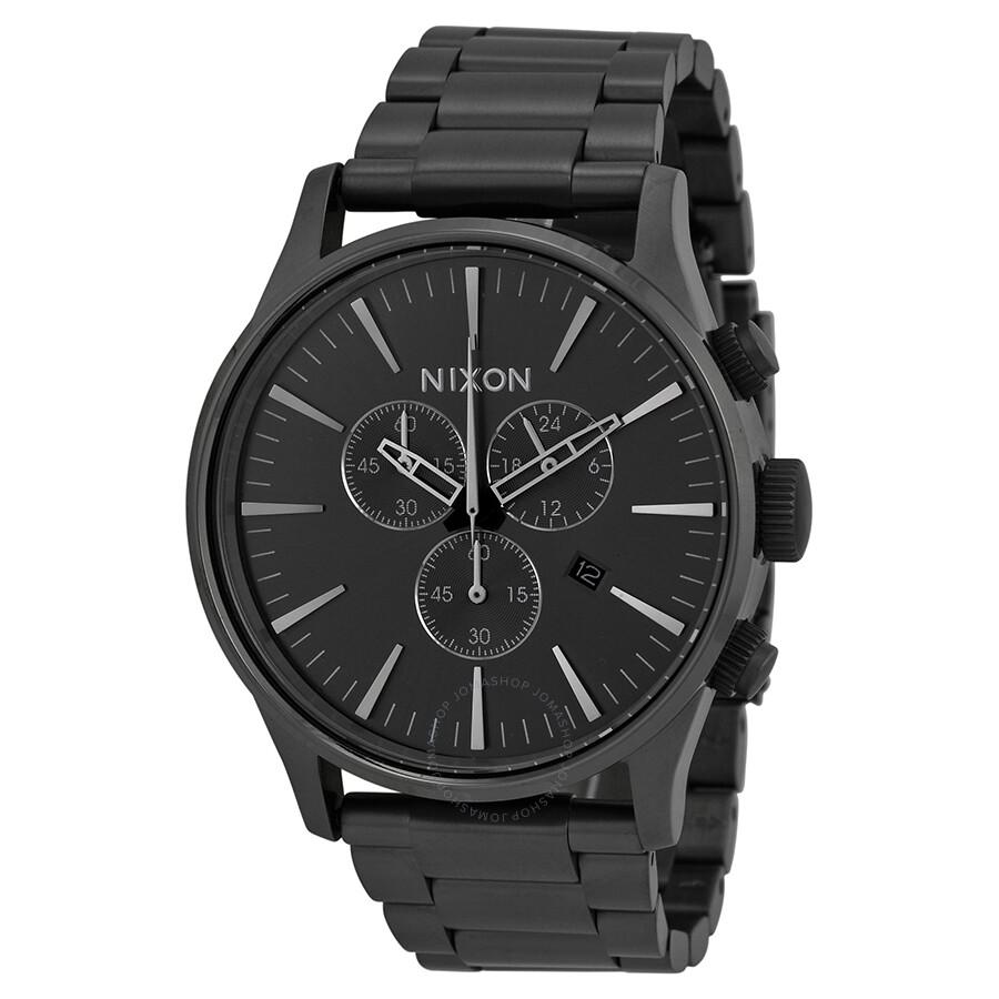 66fc0acb0b2 Nixon sentry chronograph all gunmetal mens watch a nixon jpg 900x900 Nixon  watches gunmetal