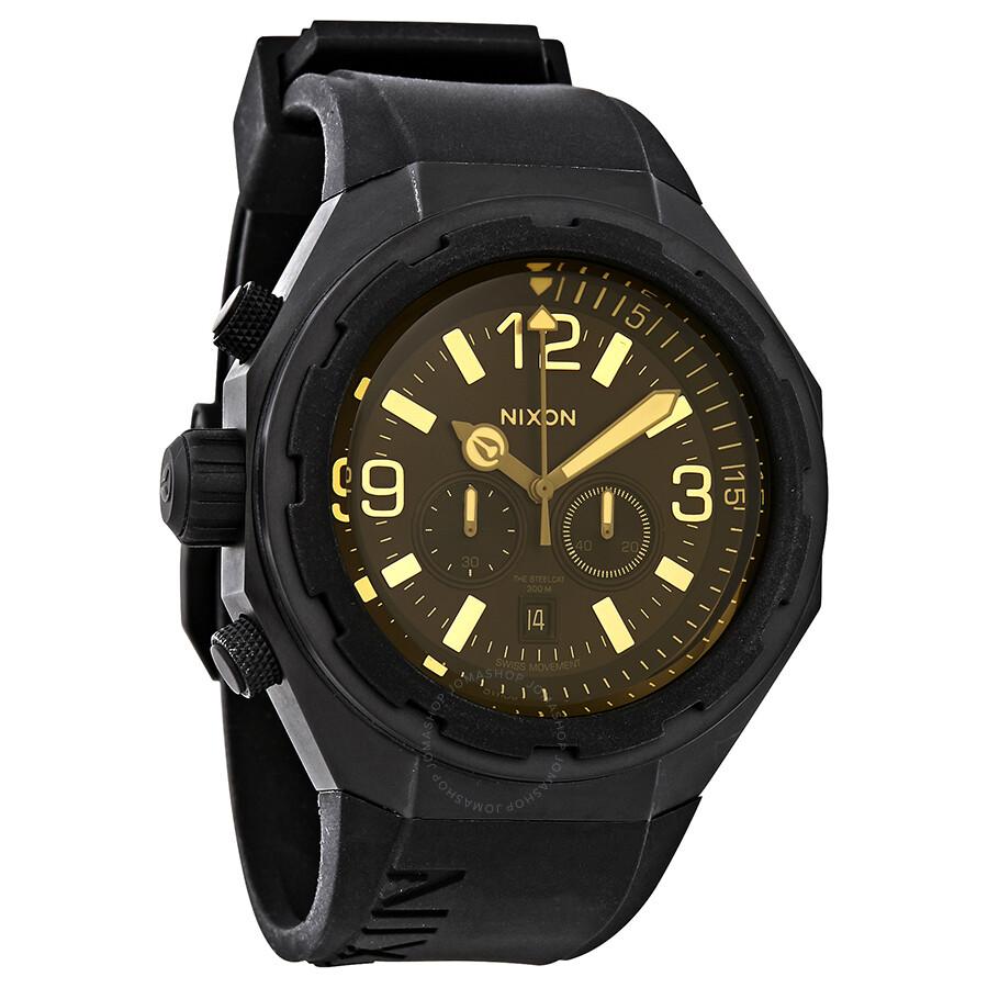 Watch Links Nixon Purple: Nixon Steelcat Black Dial Men's Chronograph Watch A3131354