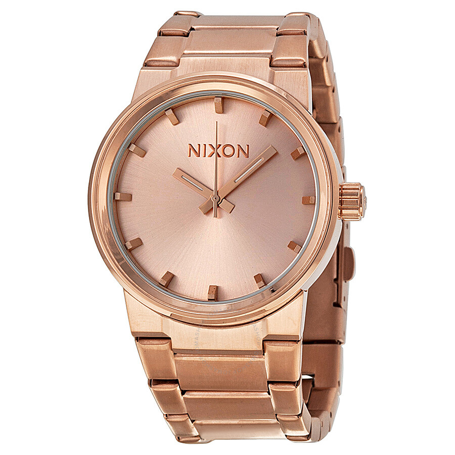 Nixon Cannon Gold: Nixon The Cannon Rose Dial Rose Gold Ion-plated Unisex