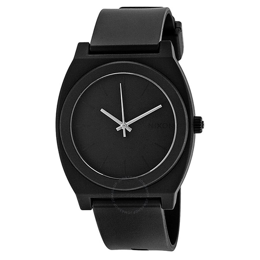 Nixon Time Teller P Matte Black Analog Men's Watch A119524 ...