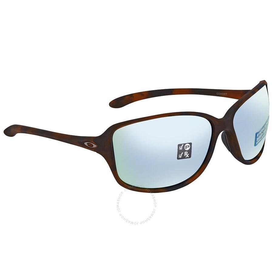 e713444755 Oakley Cohort Prizm Deep H2o Polarized Oval Sunglasses OO9301 930109 61 ...