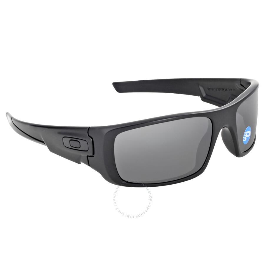 Oakley Crankshaft Sunglasses - Matte Black/Black Polarized ...