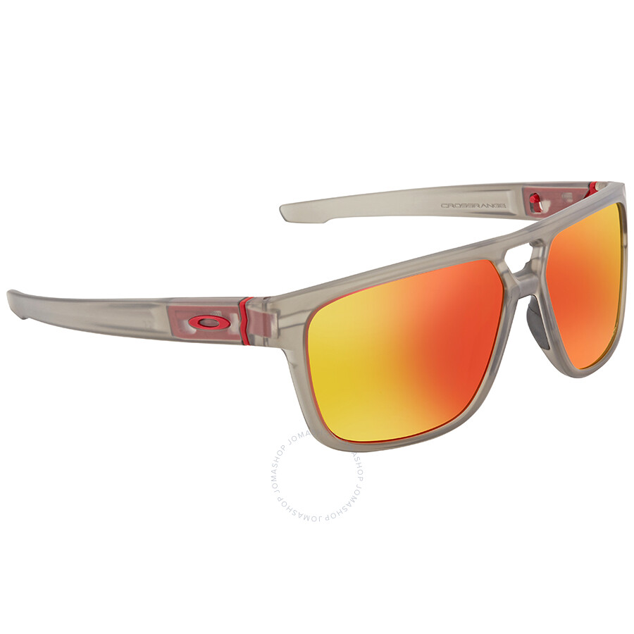 Oakley Crossrange Prizm Ruby 47 Rectangular Men s Sunglasses OO9382 938224  60 ... a7ef5e6640