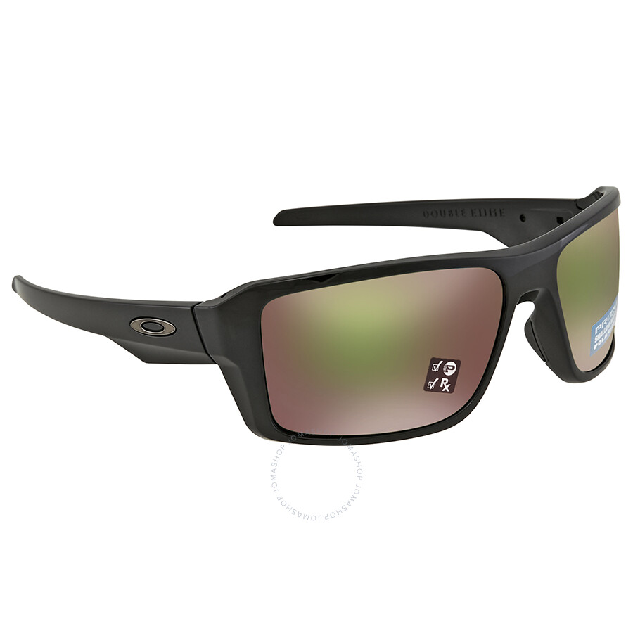 9296851790 Oakley Double Edge Prizm Shallow Water Polarized Polished Black Sunglasses  OO9380 938014 66 ...