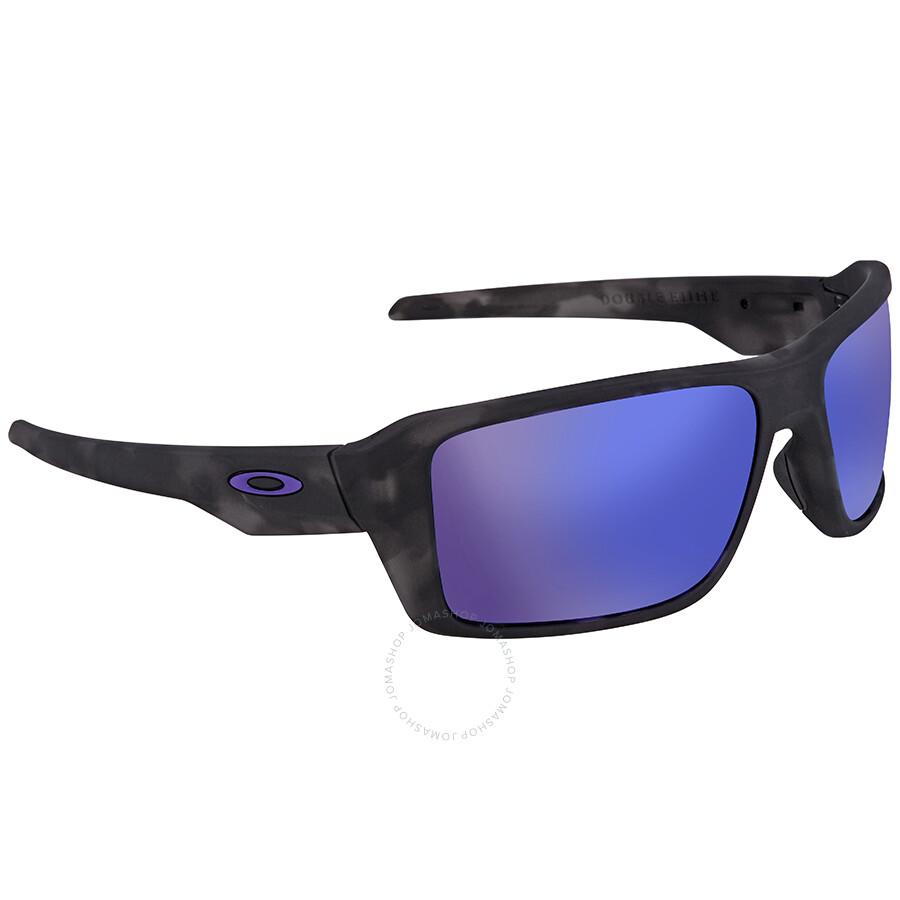 7ebf8221a1 Oakley Double Edge Violet Iridium Rectangular Men s Sunglasses  OO9380-938004-66 ...