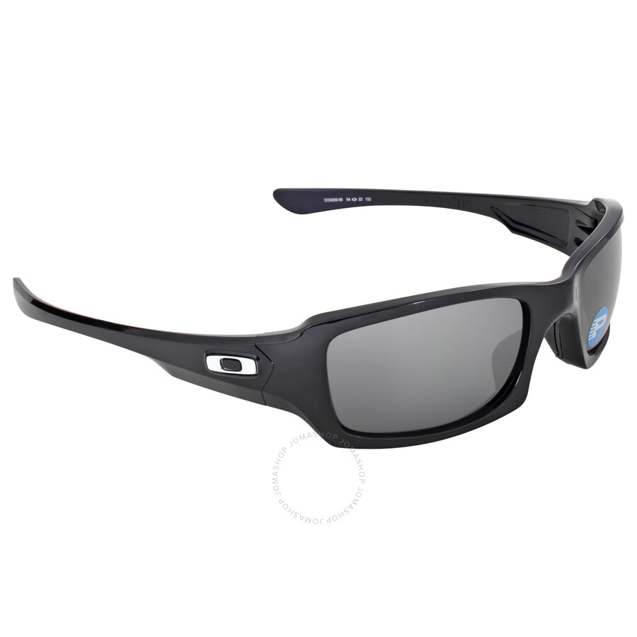 black polarized sunglasses  Oakley Fives Squared Sunglasses - Polished Black/Black Polarized ...