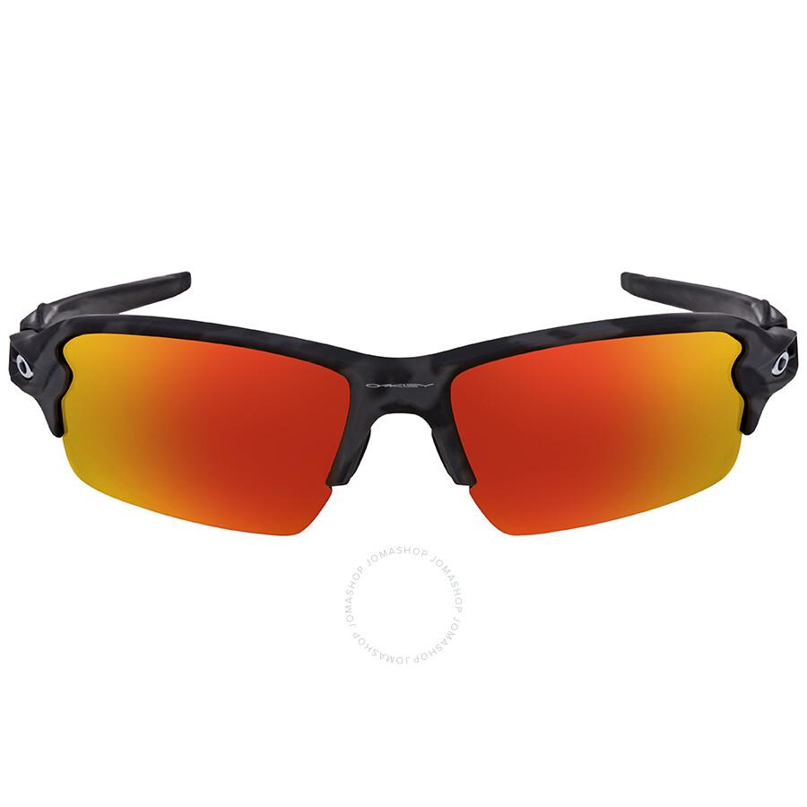 24f0044ef7 Oakley Flak 2.0 Prizm Ruby Rectangular Men s Asian Fit Sunglasses Item No. OO9271  927127 61