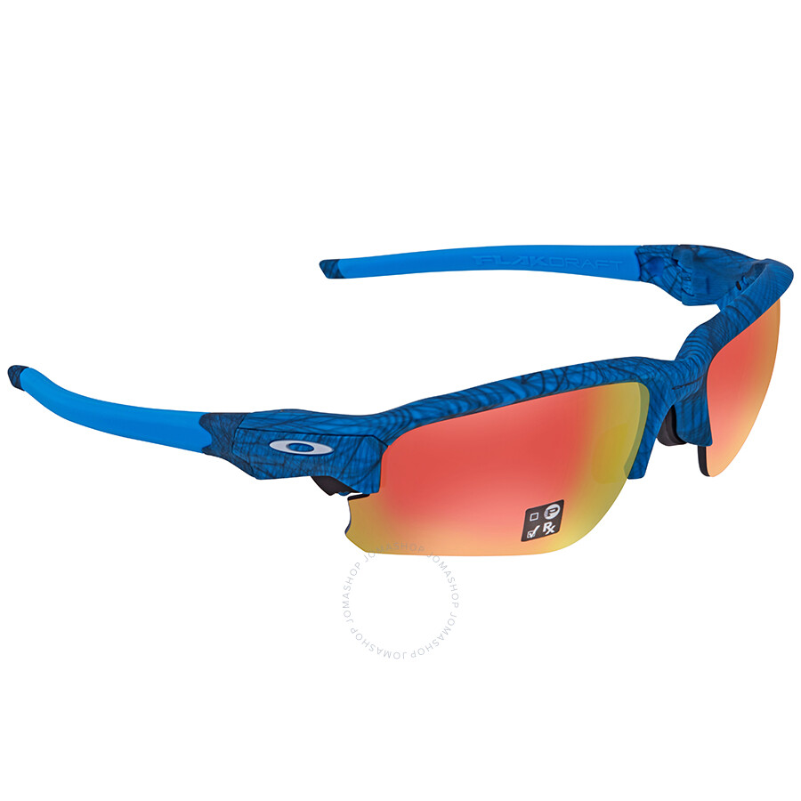 60a5e1d5b2 Oakley Flak Draft Ruby Iridium Sport Asia Fit Sunglasses OO9373 937309 70  ...