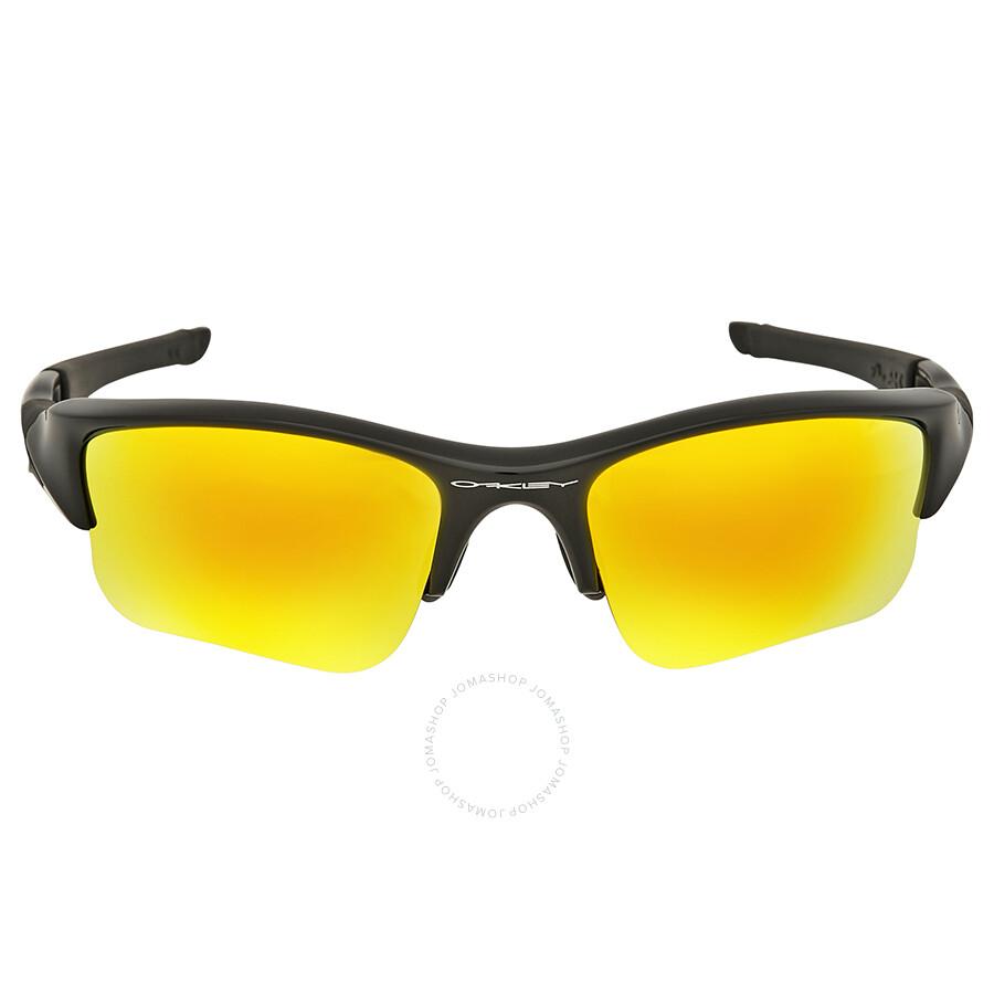 3bec583593b Oakley Flak Jacket XLJ Fire Iridium Sunglasses - Oakley - Sunglasses ...