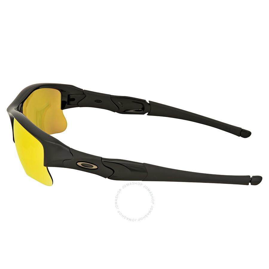 Black and yellow flak jacket oakleys
