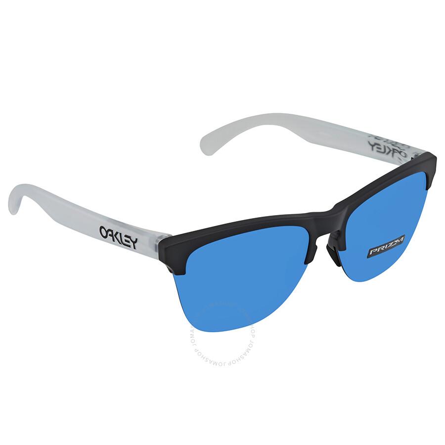 a9958d9ef3 Oakley Frogskin Lite Prizm Sapphire Round Men s Sunglasses OO9374 937402 63  ...