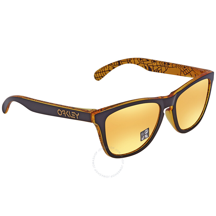 2ed147b332 Oakley Frogskins 24k Iridium Rectangular Asian Fit Sunglasses OO9245 924566  54 ...