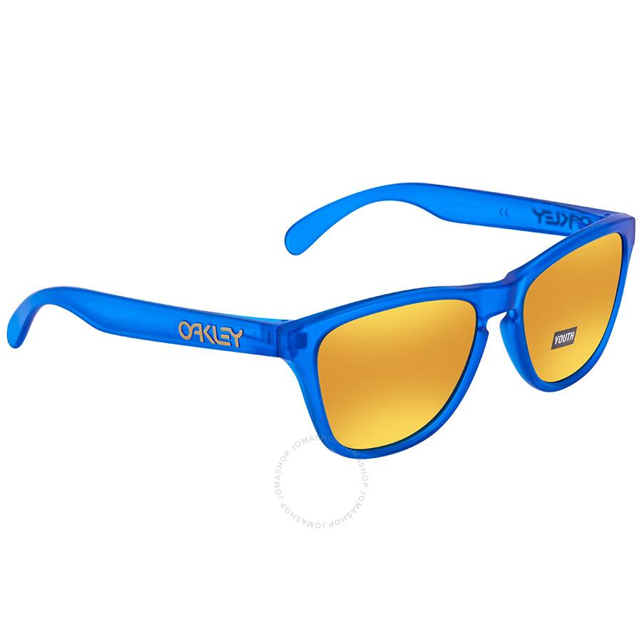 bbb0a12599 Oakley Frogskins 24k Iridium XS Youth Wayfarer Sunglasses OJ9006 900604 53  ...