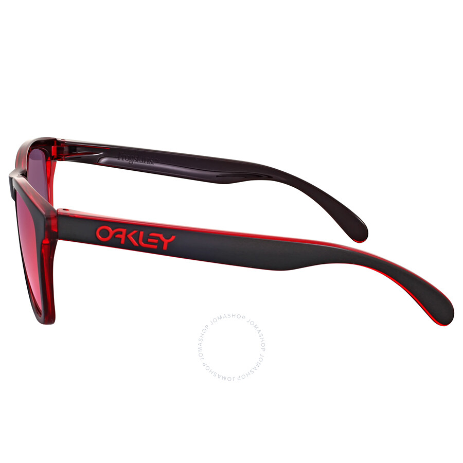 oakley frogskins eclipse red sunglasses