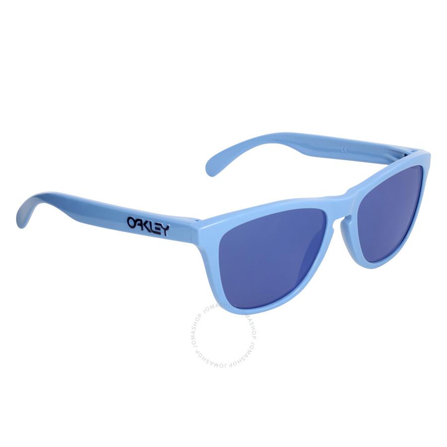 oakley frogskins bkl1  Oakley Frogskins Heritage Blue Ice Iridium Men's Sunglasses