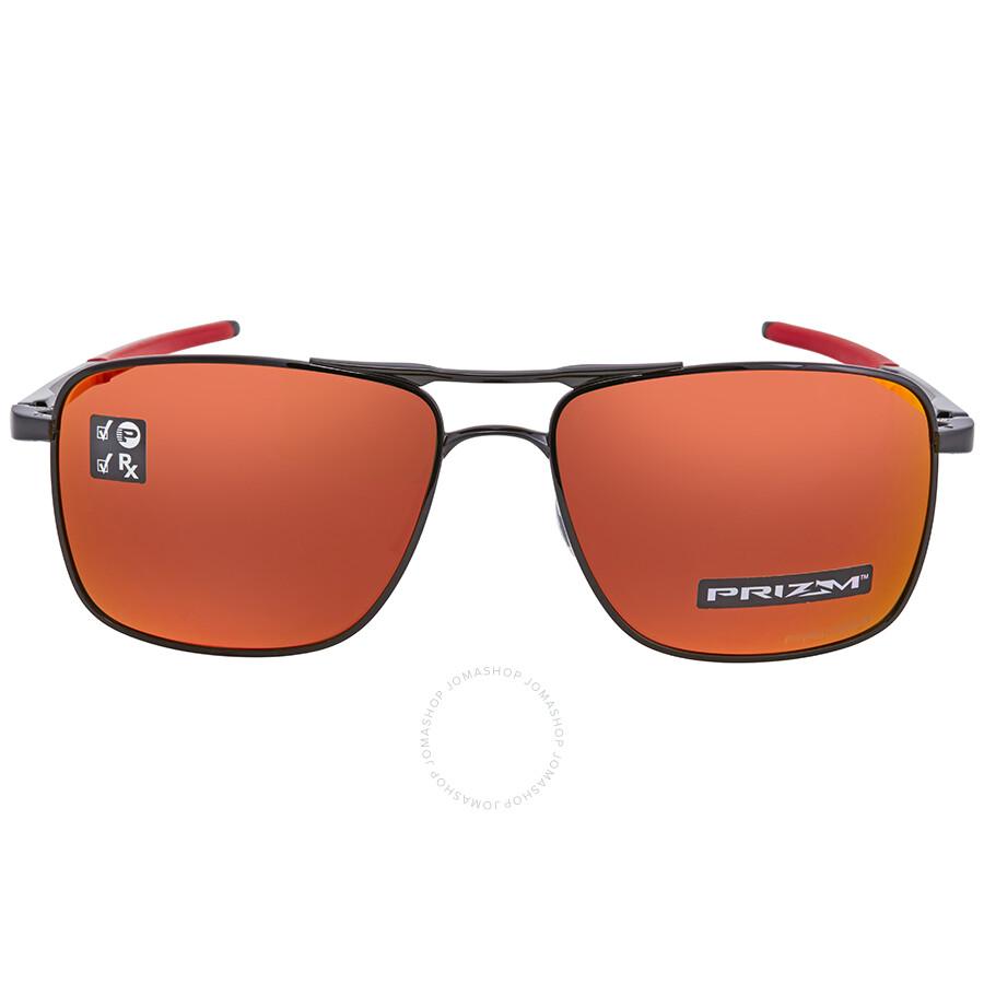 77c36cd71a ... Oakley Gauge 6 Prizm Ruby Rectangular Sunglasses OO6038 603804 57 ...