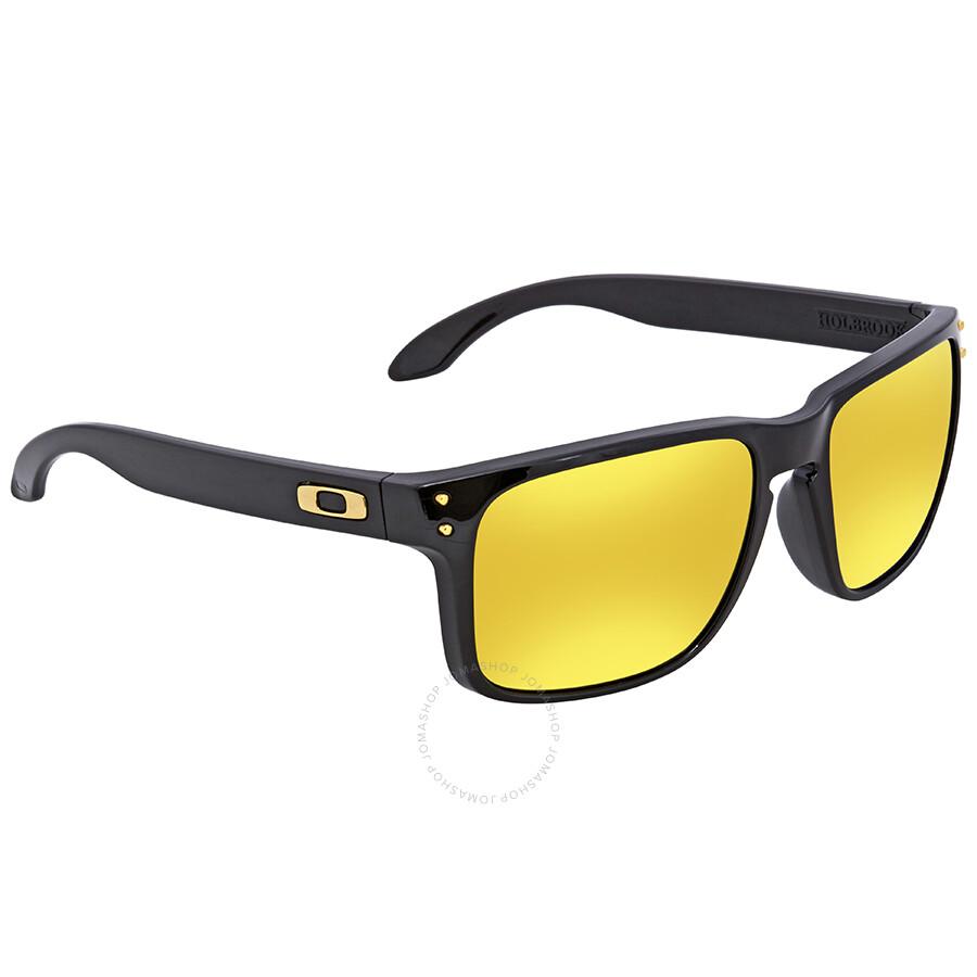 4ec8d6fc78 Oakley Holbrook 24K Iridium Square Sunglasses OO9102 9102E3 55 ...