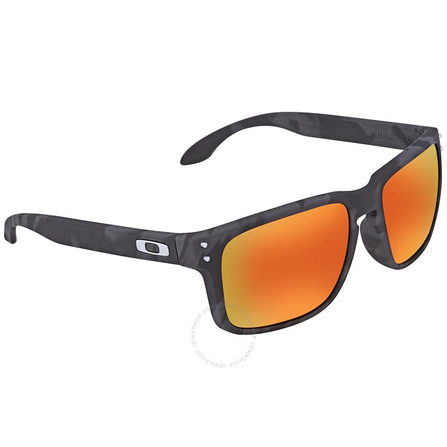 Oakley Holbrook Black Camo Collection Asia Fit Prizm Ruby Iridium Sunglasses  OO9244 924432 56 ... 7105d395f2