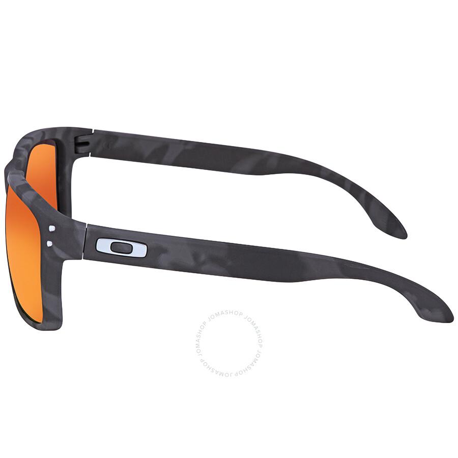 0ec58343bda ... Oakley Holbrook Black Camo Collection Asia Fit Prizm Ruby Iridium  Sunglasses OO9244 924432 56