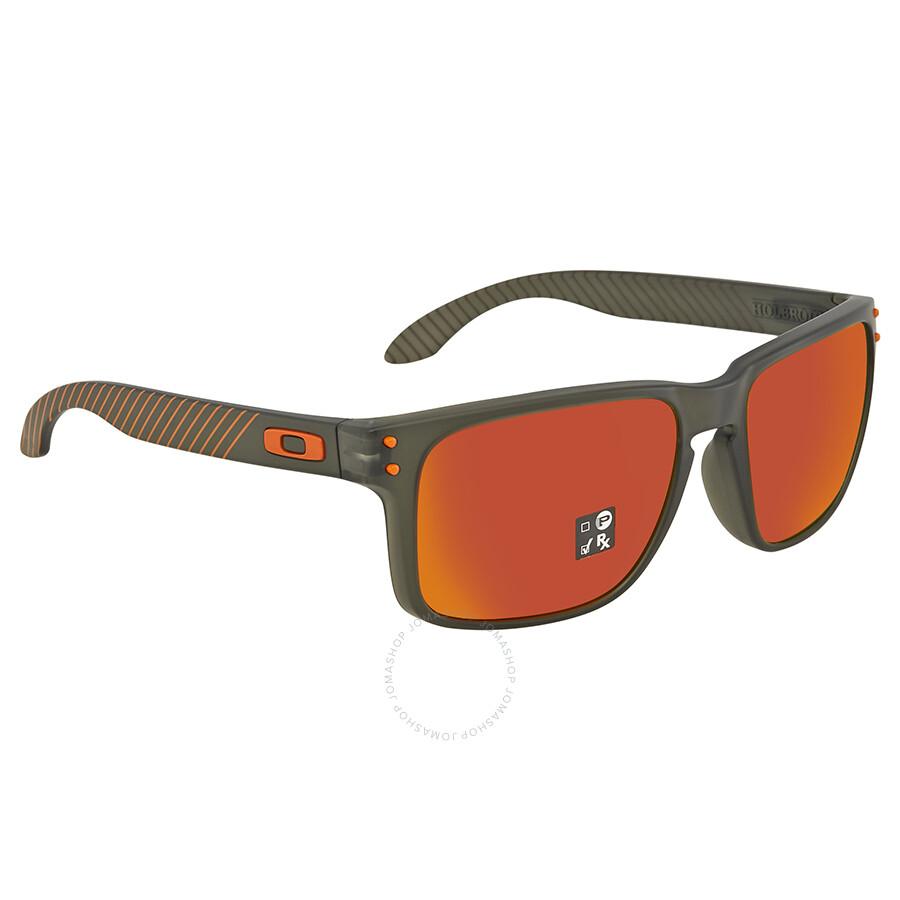 67bee54dc7eea Oakley Holbrook Prizm Ruby Rectangular Men s Sunglasses OO9102 9102E7 55 ...
