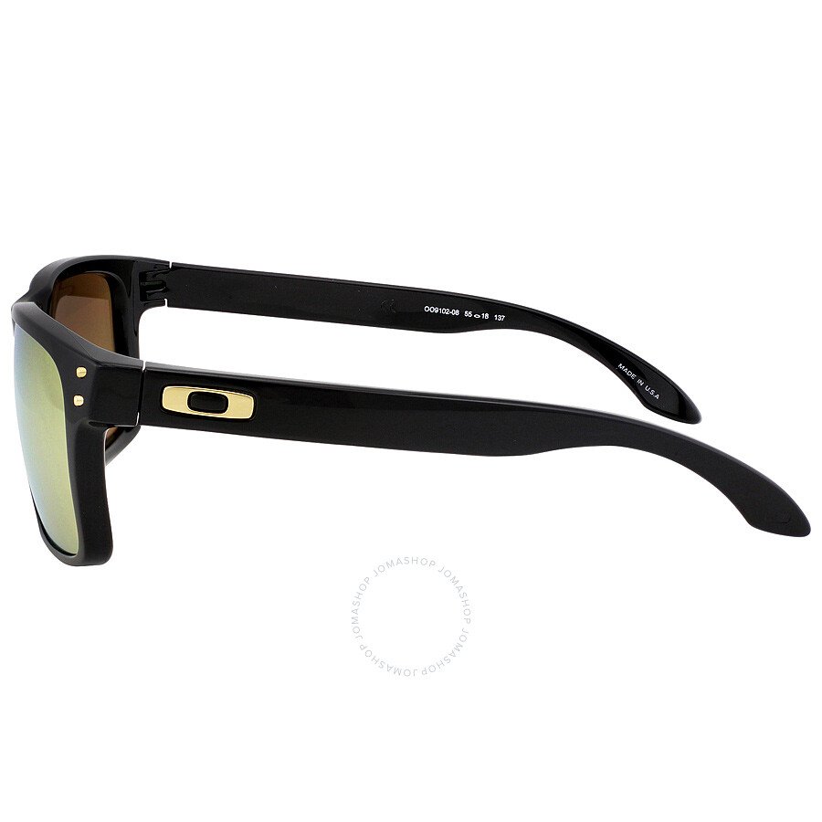 black and gold oakleys  Oakley Holbrook Sunglasses - Black/Gold - Oakley - Sunglasses ...