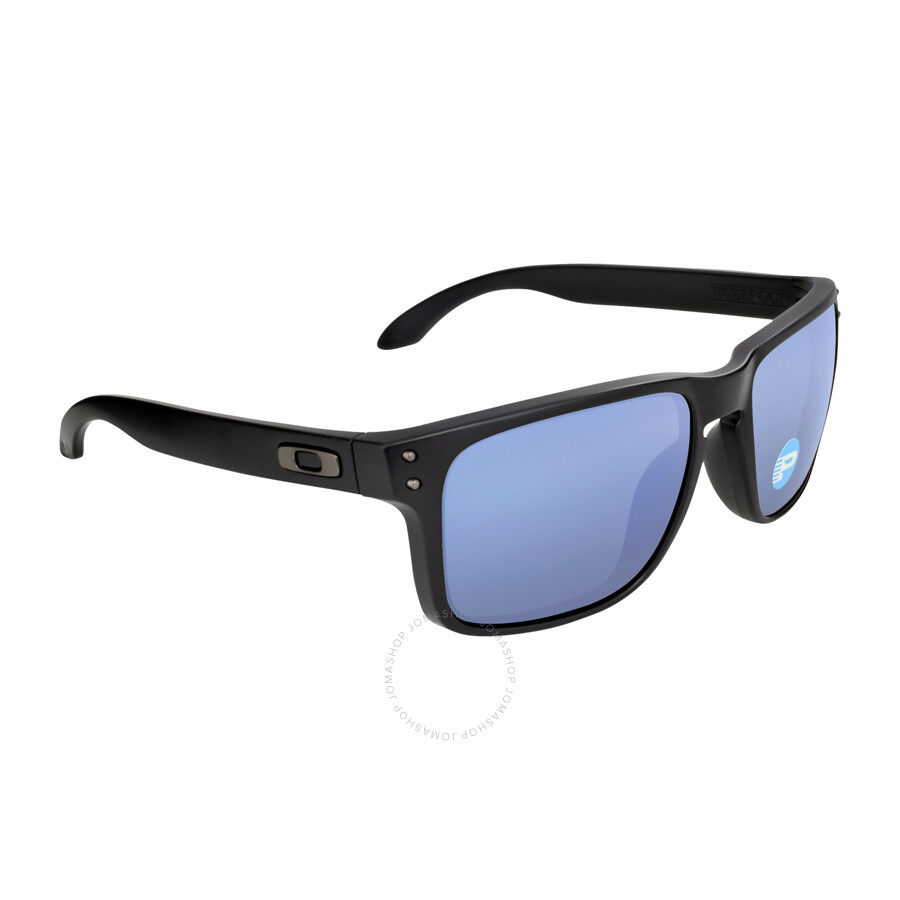 oakley holbrook sunglasses blue  oakley holbrook sunglasses matte black/blue polarized