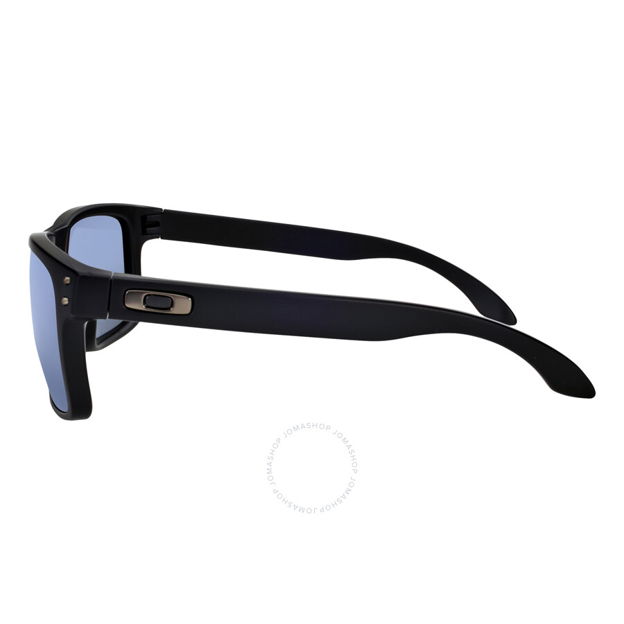 a0658d8bab9 Oakley Holbrook Sunglasses - Matte Black Blue Polarized - Oakley ...