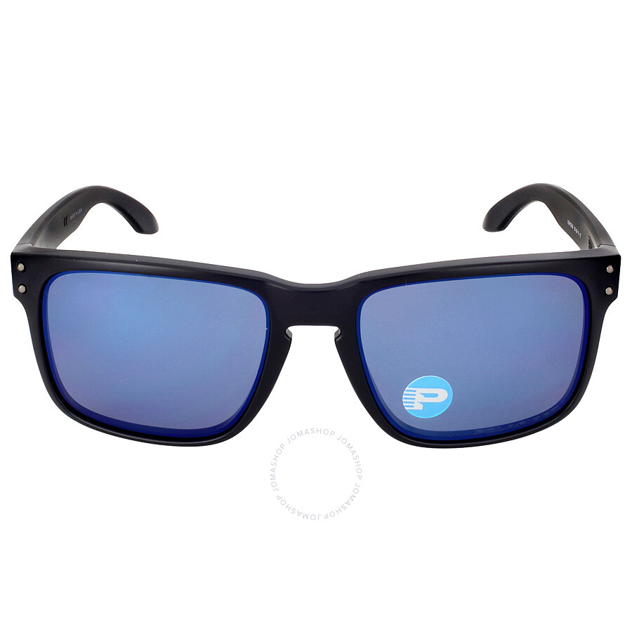 3dc13510da Oakley Holbrook Sunglasses - Matte Black Blue Polarized Item No.  OO9102-910252-55