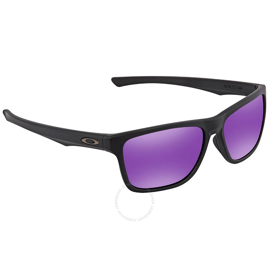 Oakley Holston Violet Iridium Rectangular Men s Sunglasses OO9334 933409 58  ... 07e53888cd74