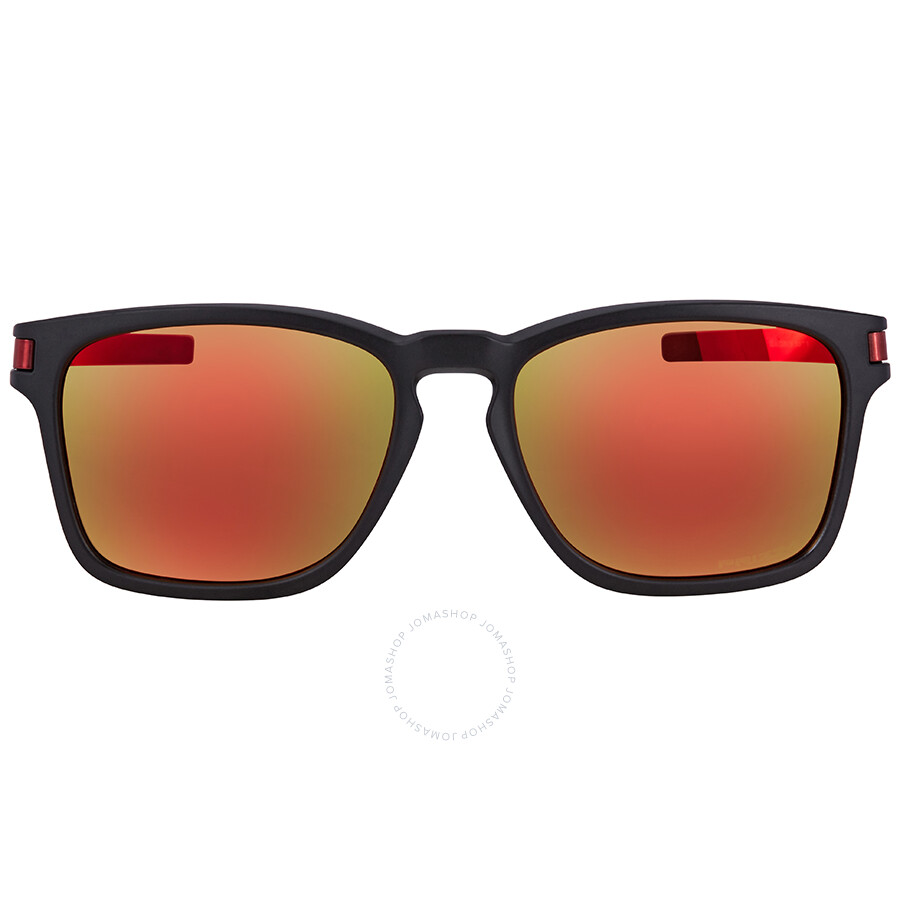 d67577c61d7 ... Oakley Latch Squared Latch™ Square Asia Fit Prizm Ruby Rectangular Sunglasses  OO9358 935811 55 ...
