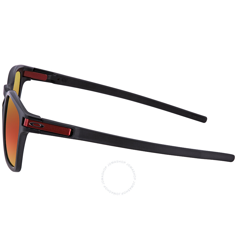 Oakley Latch Squared >> Oakley Latch Squared Latch Square Asia Fit Prizm Ruby Rectangular Sunglasses Oo9358 935811 55