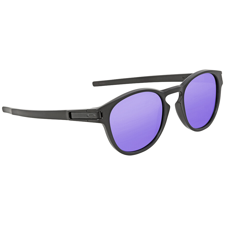3c54638b04 ... Oakley Latch Violet Iridium Round Sunglasses OO9265-926506-53 ...