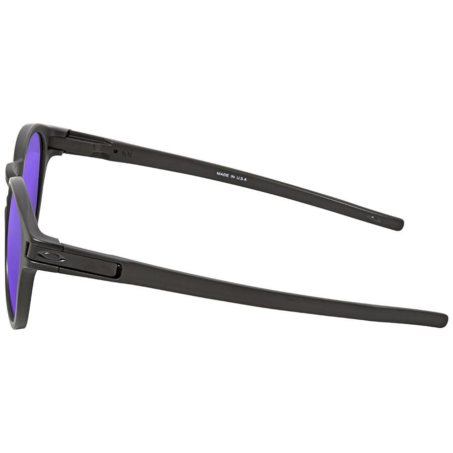 92fbf0968f ... Oakley Latch Violet Iridium Round Sunglasses OO9265-926506-53