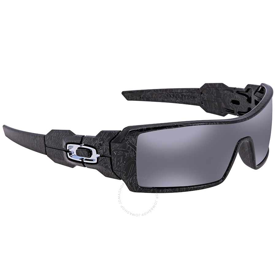 85a30726103 Oakley Oil Rig Black Iridium Rectangular Men s Sunglasses 0OO9081 24-058 28  ...