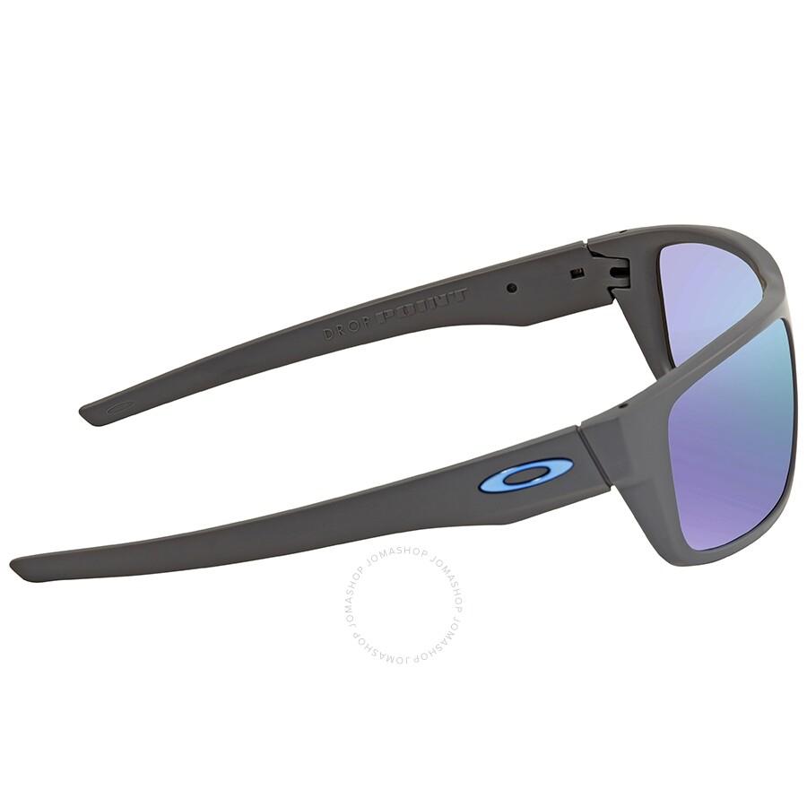 Oakley Drop Point Polarized Prizm Sapphire Rectangular Men's Sunglasses OO9367 936706 60