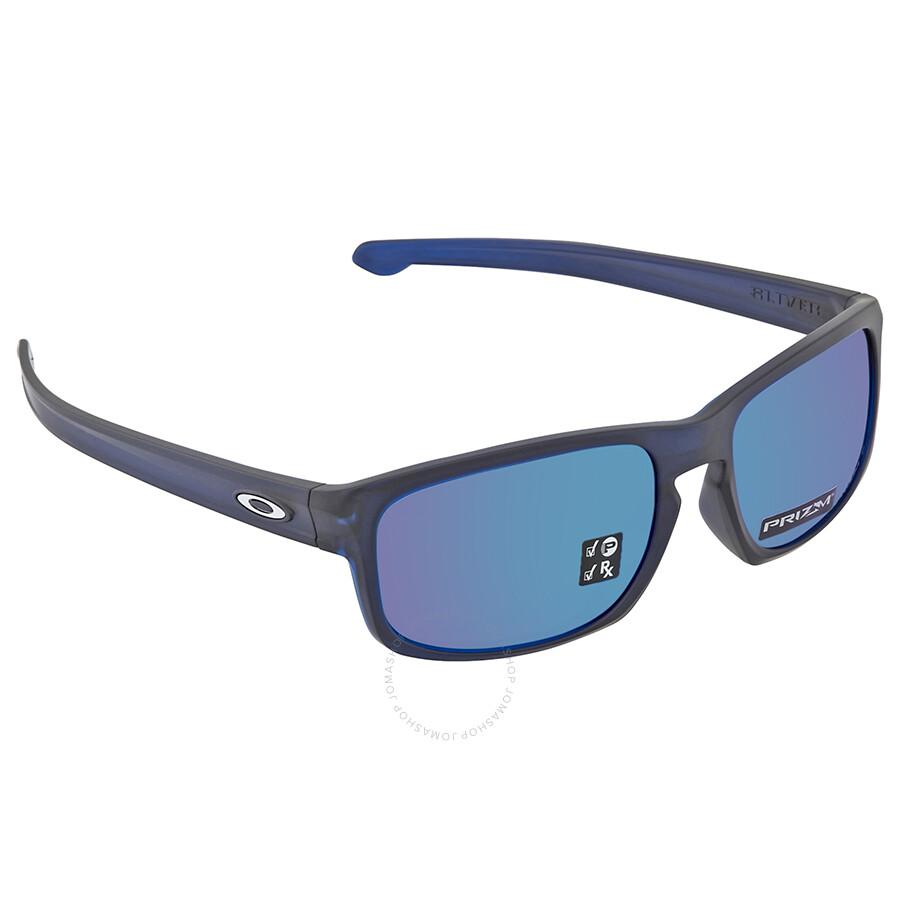 73e53c69051 Oakley Silver Stealth Prizm Sapphire Rectangular Men s Sunglasses 0OO9409  940907 57 ...
