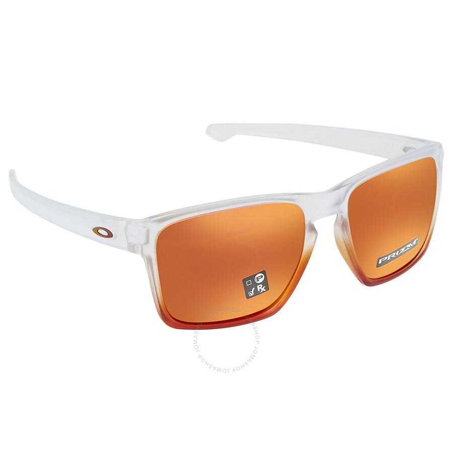 b178ff3948be Oakley Silver XL Prizm Ruby Rectangular Men s Sunglasses 0OO9341 934127 57  ...