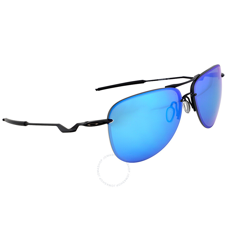 966d5bb51f ... Oakley Tailpin Sport Sunglasses - Satin Black Sapphire Iridium  Polarized ...