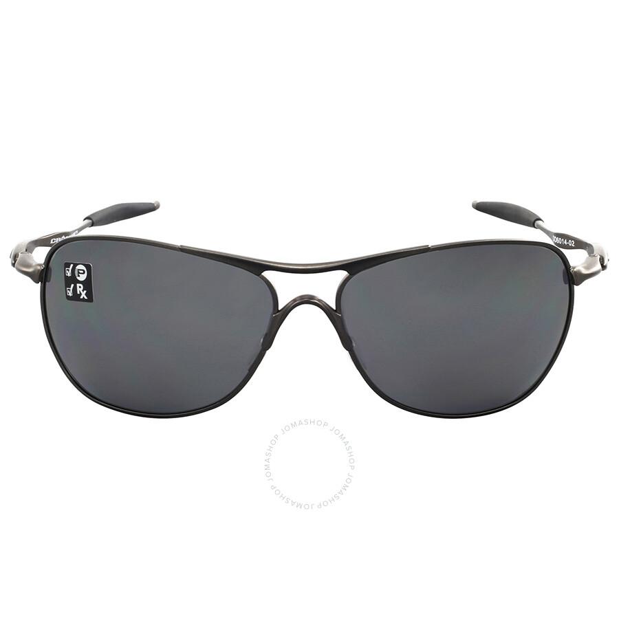 505e7bb0070 Oakley Titanium Crosshair Black Iridium Aviator Sunglasses Item No.  OO6014-601402-61
