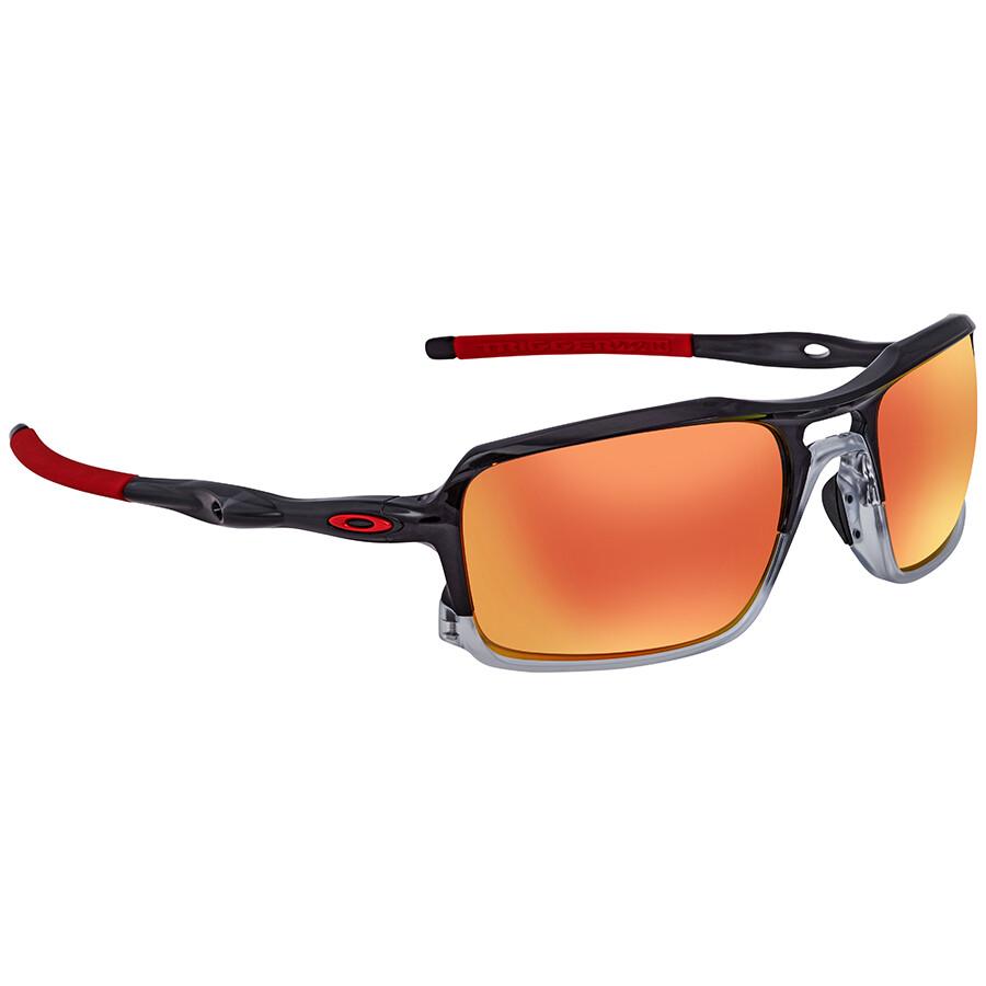 620e5237d0 Oakley Triggerman Ruby Iridium Rectangular Men s Sunglasses OO9266-926610-59  ...