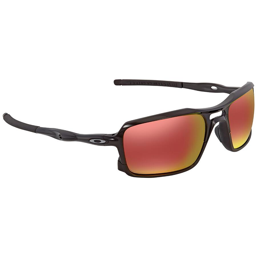 dfef3b0d12 Oakley Triggerman Ruby Iridium Rectangular Men s Sunglasses OO9266-926603-59  ...