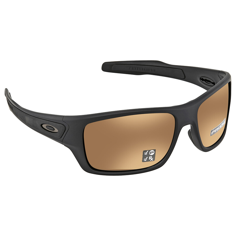 10d3ca4cd8 Oakley Turbine Prizm Tungsten Polarized Rectangular Men s Sunglasses OO9263-926340-63  ...