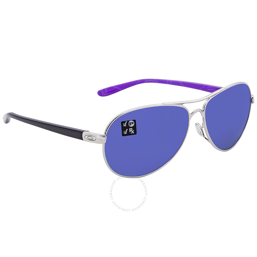 de8aaa483a Oakley Violet Iridium Polarized Aviator Ladies Sunglasses OO4079-407923-59  ...