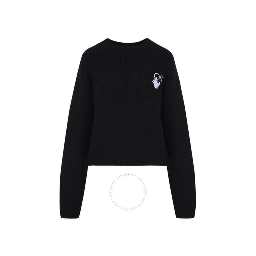 New Logos Knitted Jumper in Black White