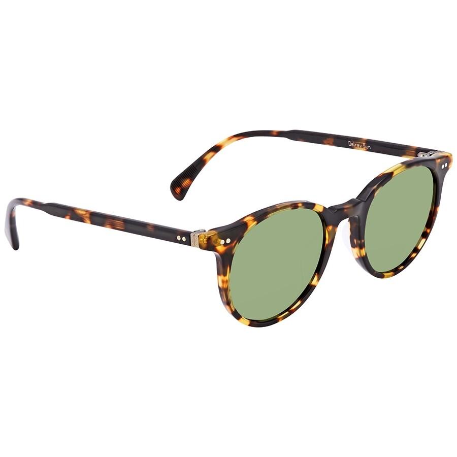 83af501508b12 Oliver Peoples Delray Sun Green C Round Unisex Sunglasses OV5314SU 140752  48 ...