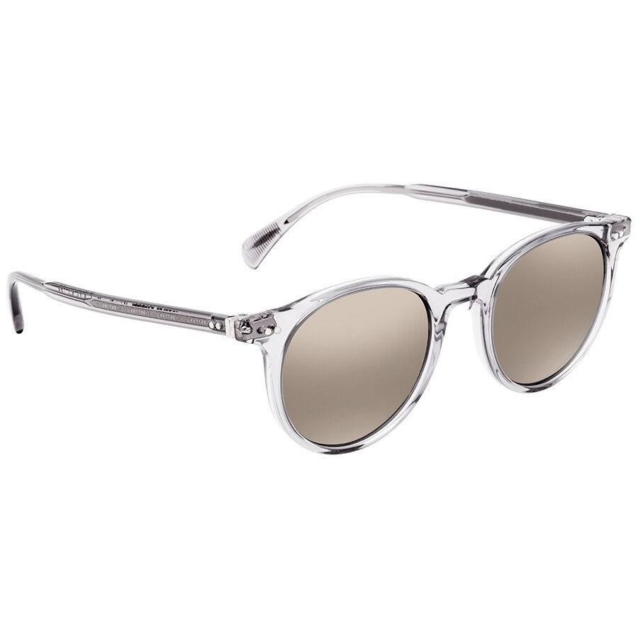 8eba0ed232c67 Oliver Peoples Delray Sun Grey Gold-tone Round Unisex Sunglasses OV5314SU  113239 48 ...