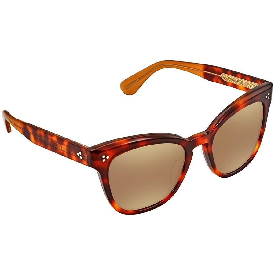 2f6191d74c Oliver Peoples Marianela Auburn Gold Mirror Cat Eye Ladies Sunglasses  OV5372SU 1642F9 54 ...