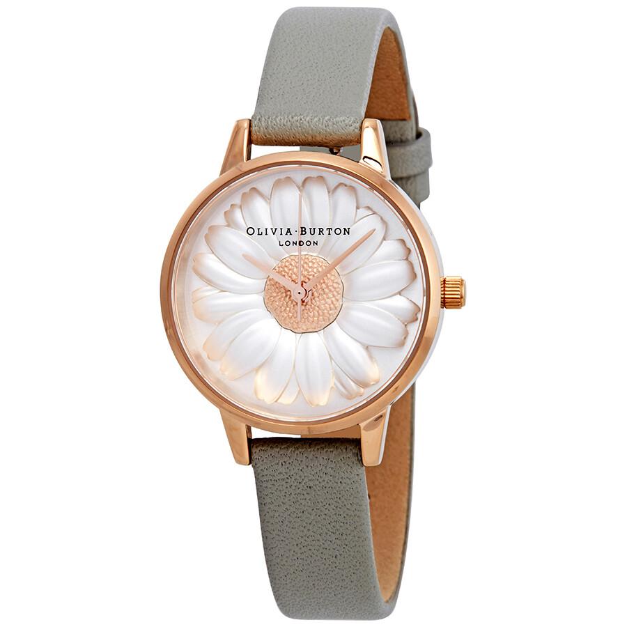 2070d11a0 Olivia Burton Flower Show 3D Daisy White Dial Ladies Watch OB15EG50 ...